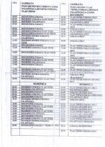 Program microbuze iunie 2015